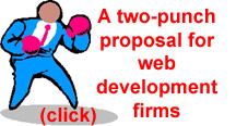 A two-punch proposal for web development firms